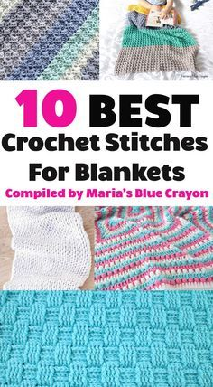 Best Crochet Stitches for Blankets - Maria's Blue Crayon