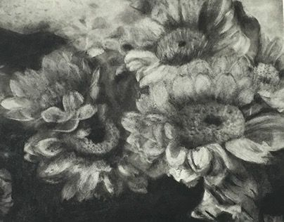 "@Behance portfolio: ""Charcoal Floral"" http://be.net/gallery/52528437/Charcoal-Floral"