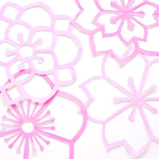 Create Your Own Pretty Paper Blossoms Folding Instructions And Free Printable Templates