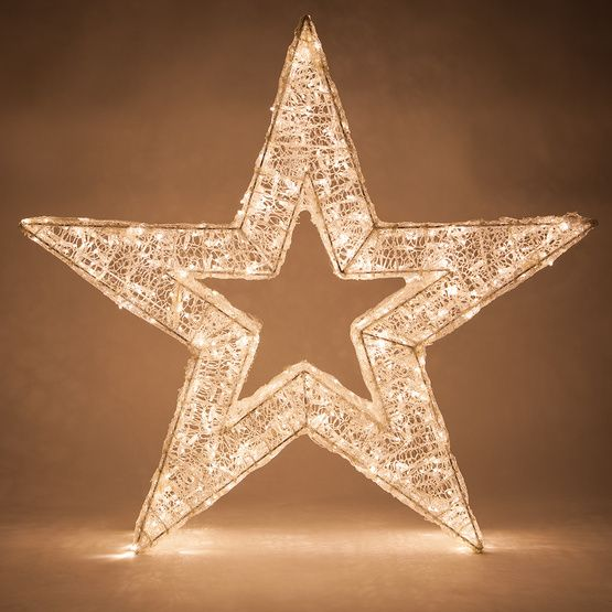 Led Five Point Dimensional Star Warm White Lights Christmas Lights Etc Star Christmas Lights Outdoor Christmas Decorations Outdoor Christmas