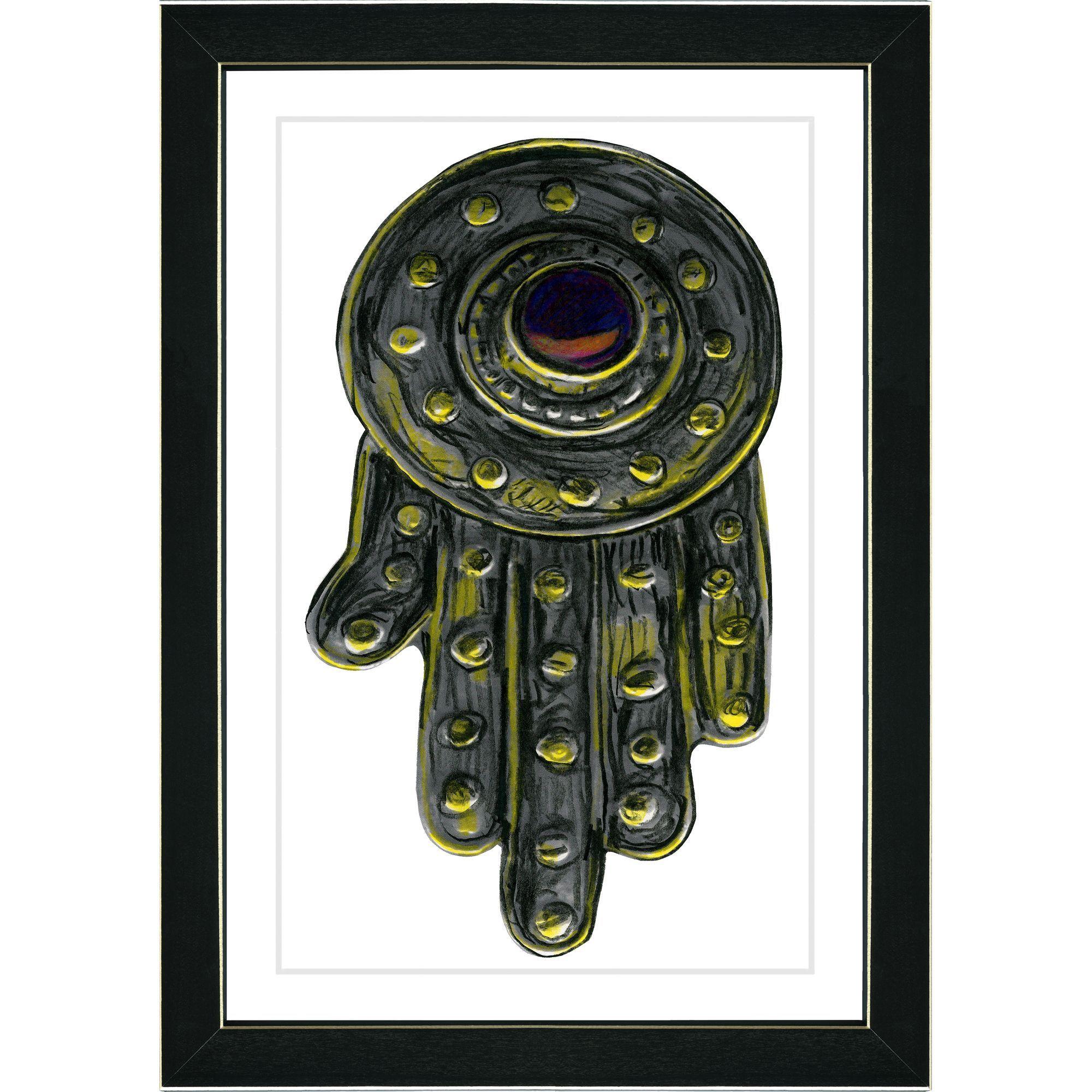 Liueartist zhee singerucliueucliuetitle uhand of godu framed art print