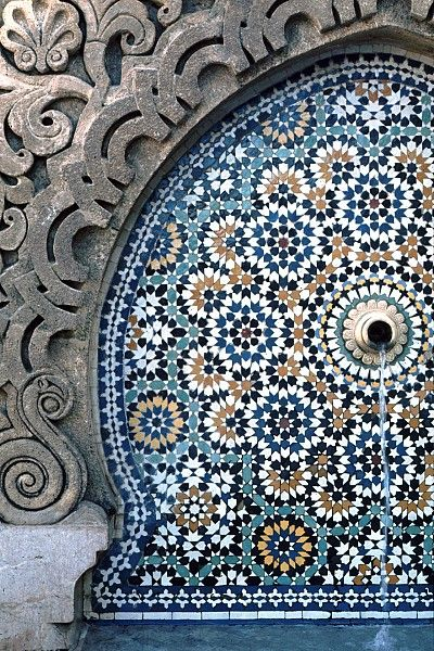 Pattern In Islamic Art Rabat Mosque Moroco Africa