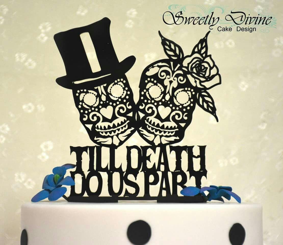 Till Do Us Part Skull Candy Wedding Cake