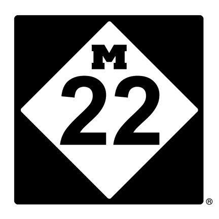Highway M22 in Northwest Michigan