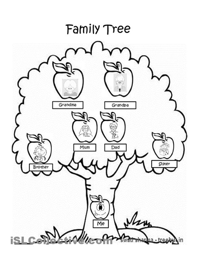 Preschool End Of The Year Coloring Sheet Basic Family Tree To