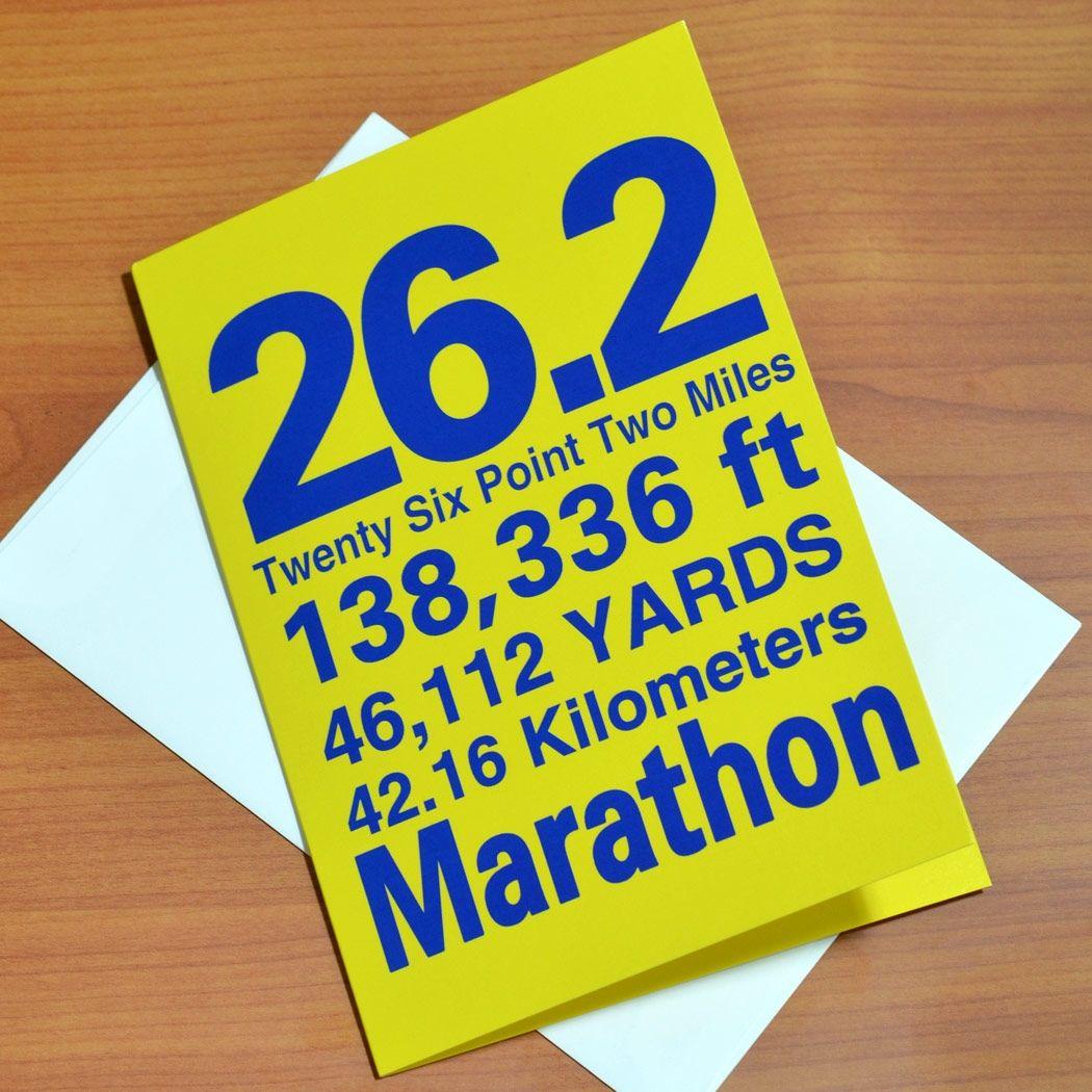 6afb70bb194 26.2 Marathon You Did It Greeting Card