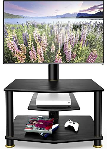 Modern Living Room Lcd Tv Stand Wooden Design Fa18b: New FITUEYES 3-Tiers Floor TV Stand Swivel Mount Height