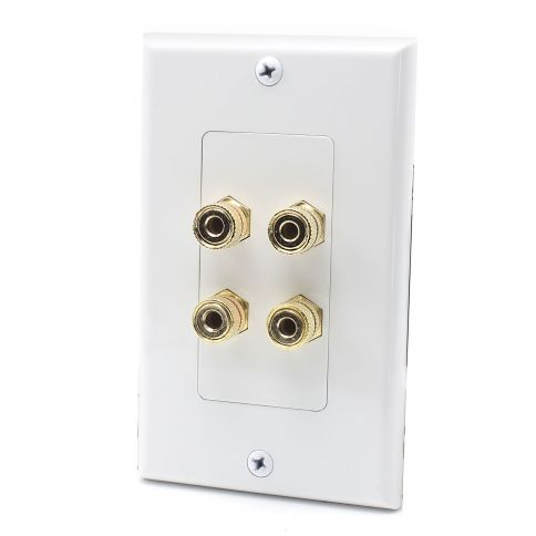 4 Port Binding Post Home Theater system Wall plate For USA