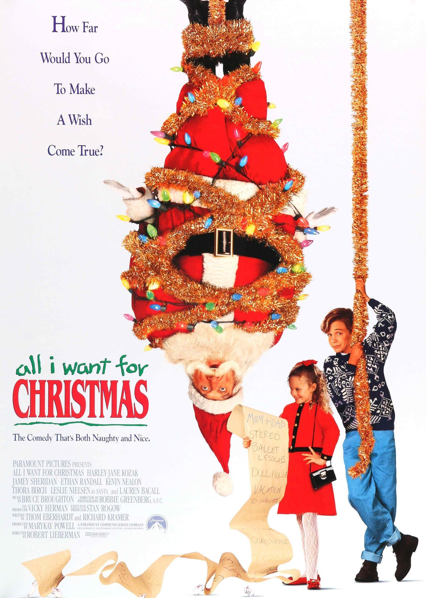 All I Want For Christmas 1991 Christmas Movies Christmas Poster Christmas Movies List