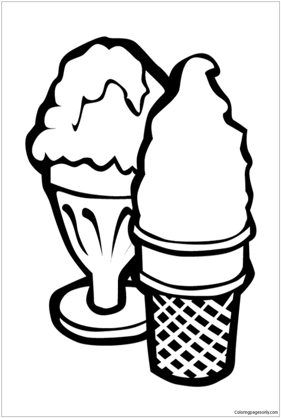 Ice Cream Coloring Page, Free Coloring Pages Online, Free