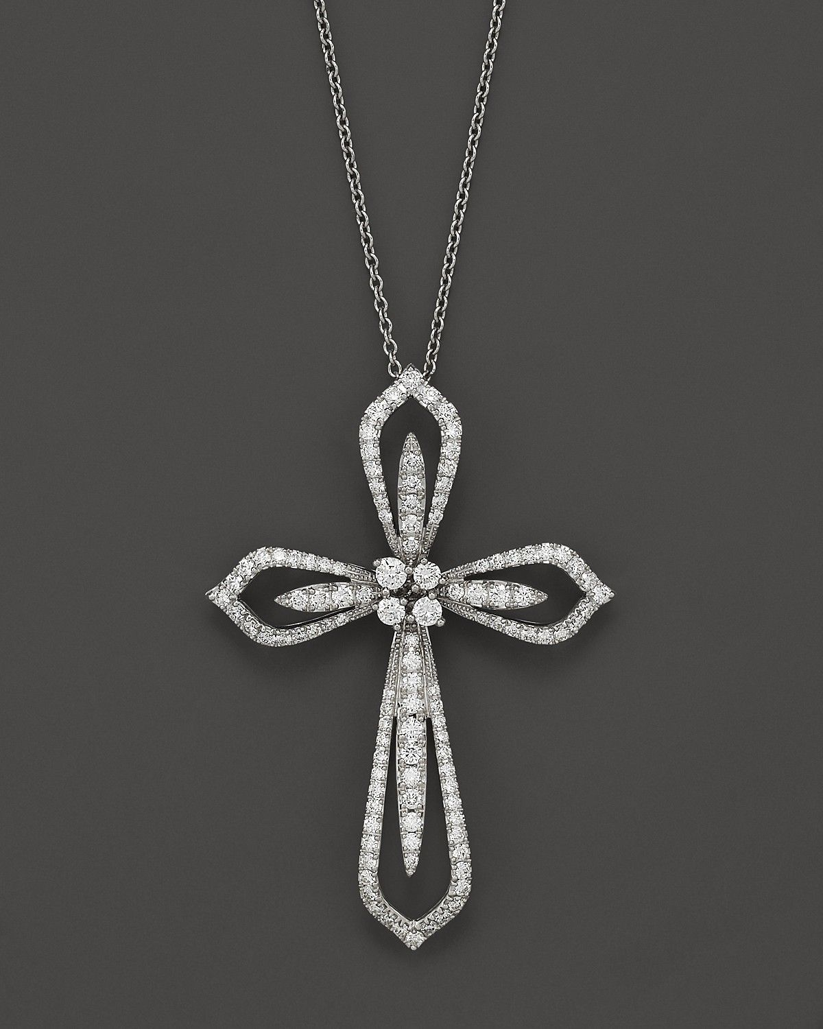 gold cross necklace diamond cross pendant necklace in