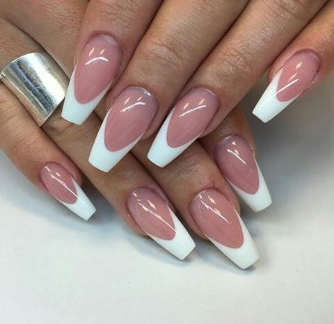 French Nails French Tip Nail Designs White Tip Acrylic Nails Work Nails