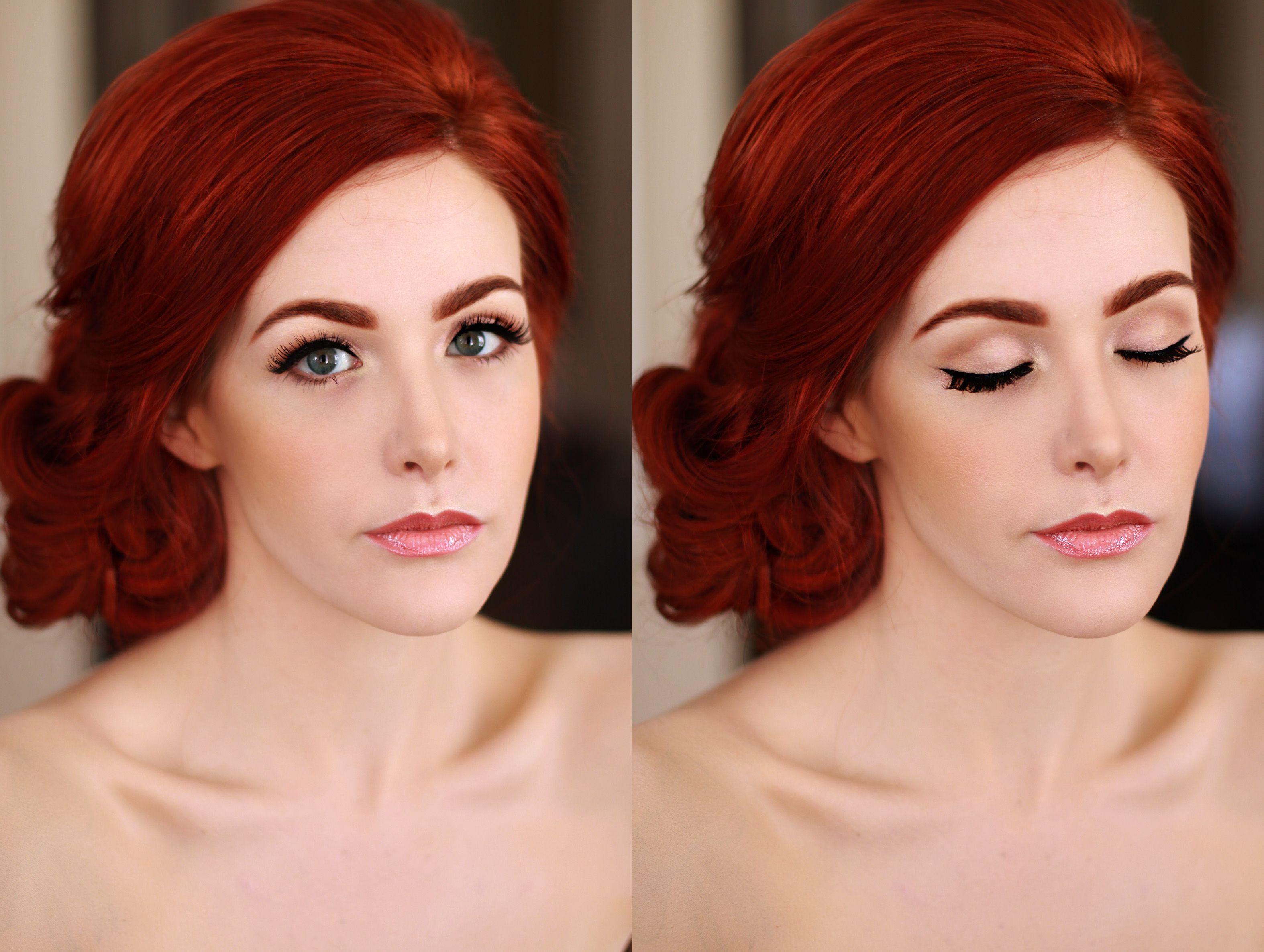 Natural Makeup Porcelain Skin Airbrush Bold Brows Updo Bridesmaid