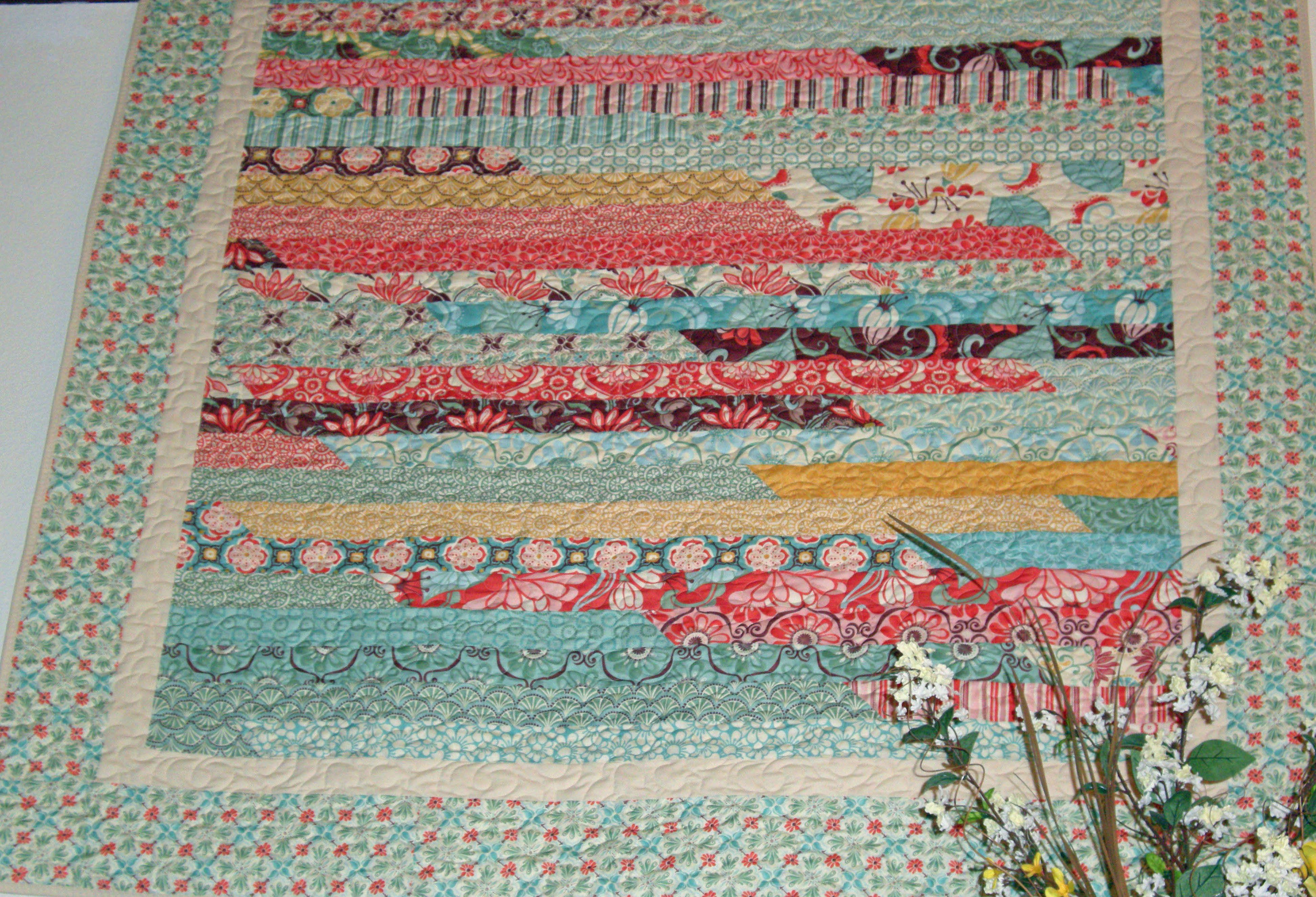 Jelly Roll Race Quilt 2012