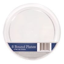 Heavy-duty plastic plates are the perfect size for hors d\u0027oeuvres and desserts! The simple clear design adds a touch of elegance that is paired with tons ...  sc 1 st  Pinterest & Bulk Clear Plastic Plates 5¾\