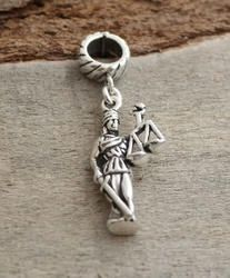 Lady Justice Lawyer Dangle Charm Bead