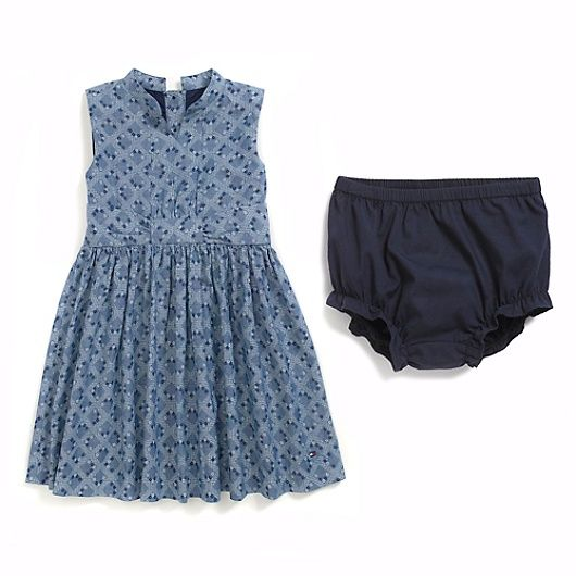 Image for CHAMBRAY PRINT DRESS from Tommy Hilfiger USA