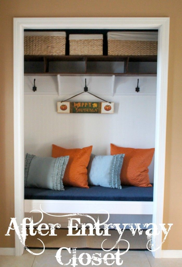 Entryway Closet With Sliding Doors That Could Easily Be Hidden
