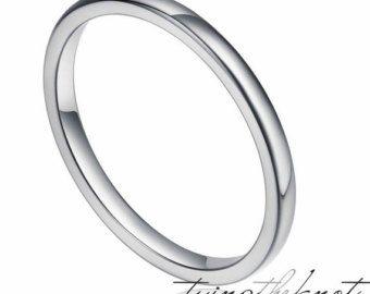 Tamaños de 4MM blanco tungsteno anillo de bodas por PCHJewelers
