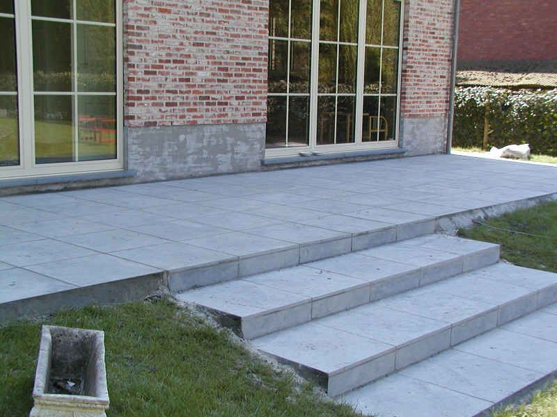 Verhoogd terras met trap google zoeken tuin backyard