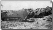 Some of the first tanks used in the war were used by the Royal Navy and were extremely unreliable.