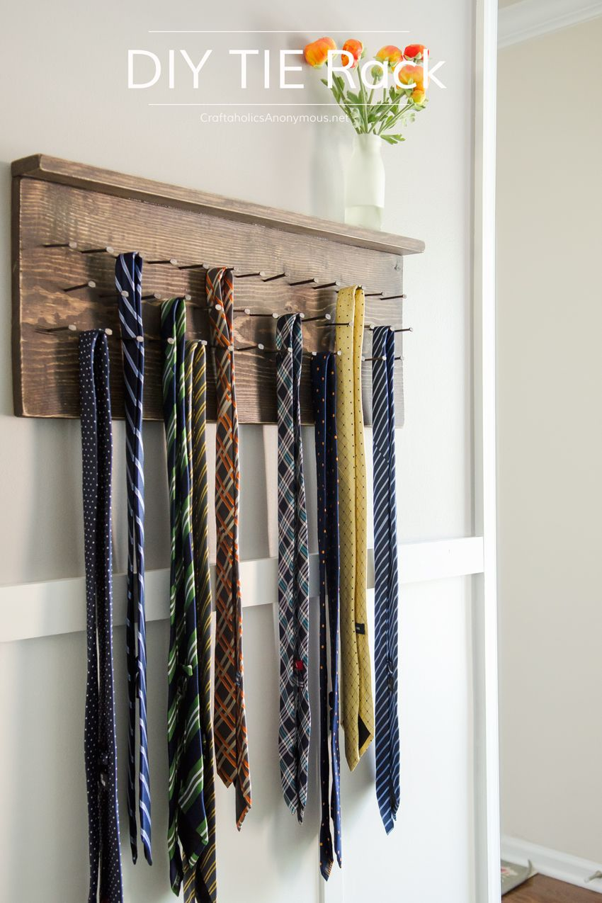 Diy Tie Rack Tutorial D I Y Home Decor Tie Rack Belt