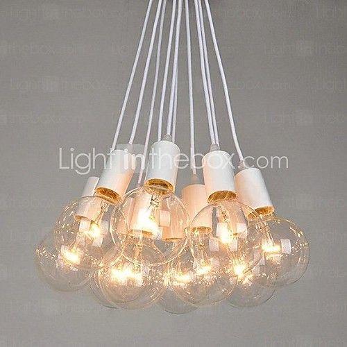 North American Country Edison Bulbs Art Chandelier   LightInTheBox