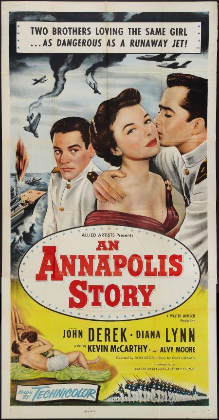 An Annapolis Story Allied Artists 1955 Three Sheet 41 Carteles De Peliculas Cine Carteleras
