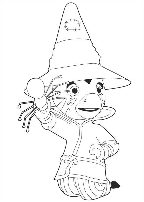 Zou-Zou Fargelegging for barn. Tegninger for utskrift og fargelegging nº 15