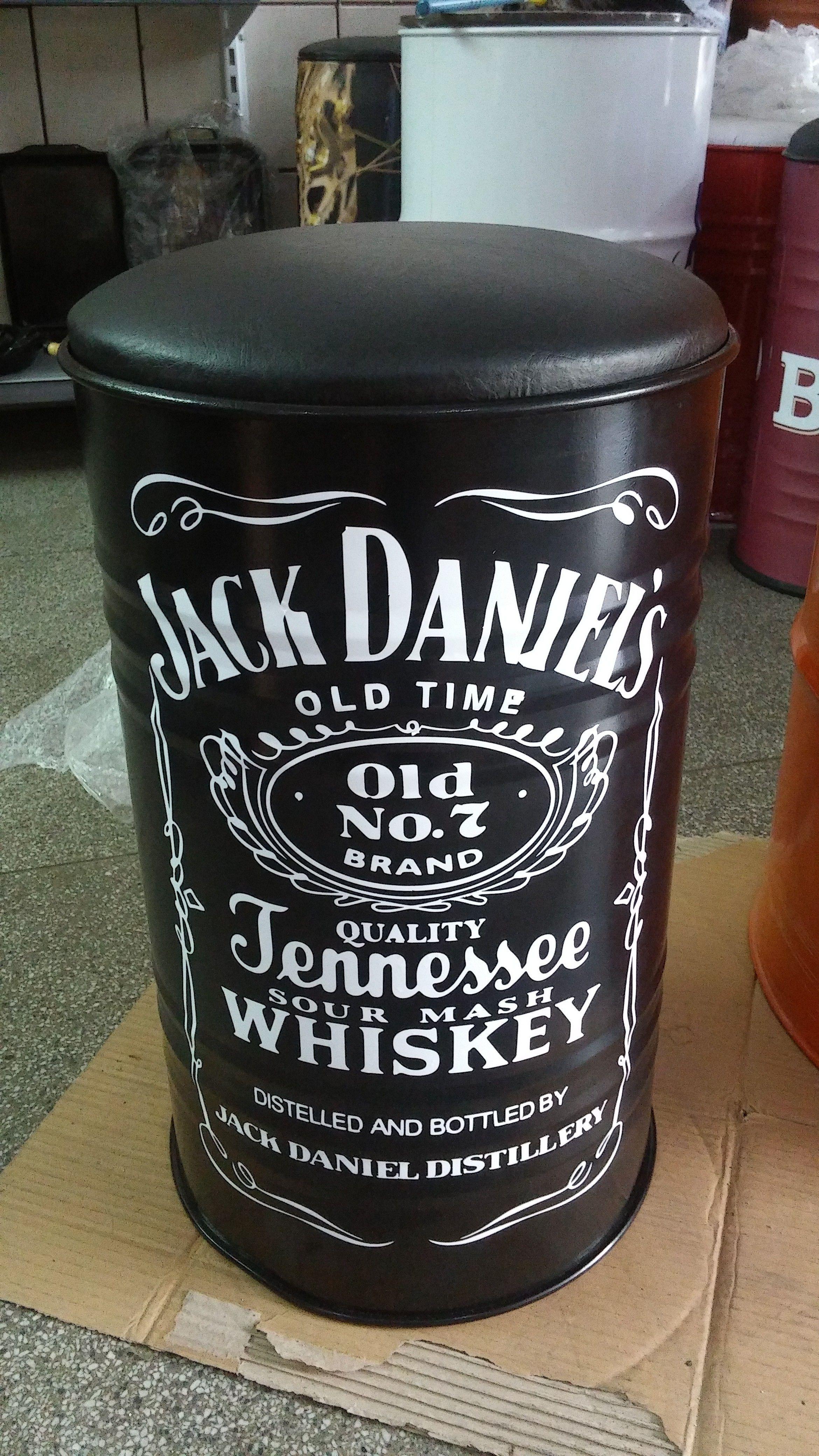 bb0d08fda6 Banqueta de Tambor de 50 Litros - Personalizada - Jack Daniel s ...