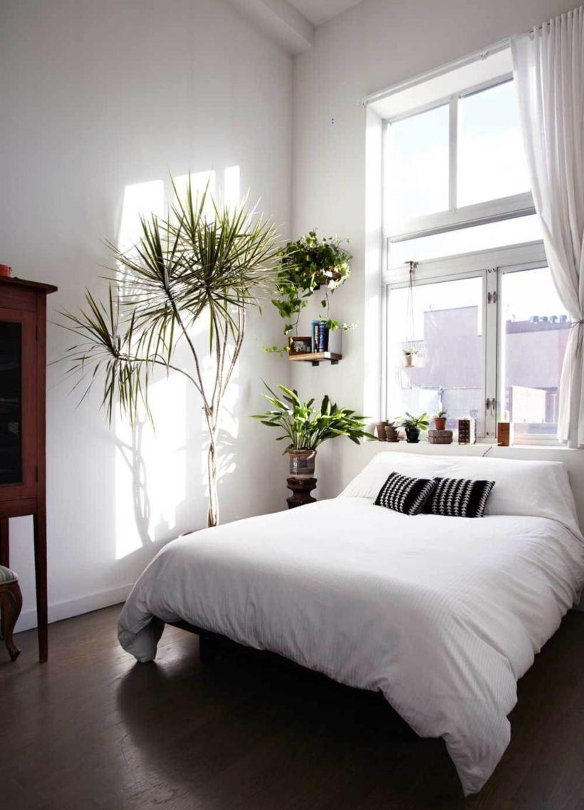 70 Inspiring Minimalist Elegant White Themed Bedroom Ideas | green ...