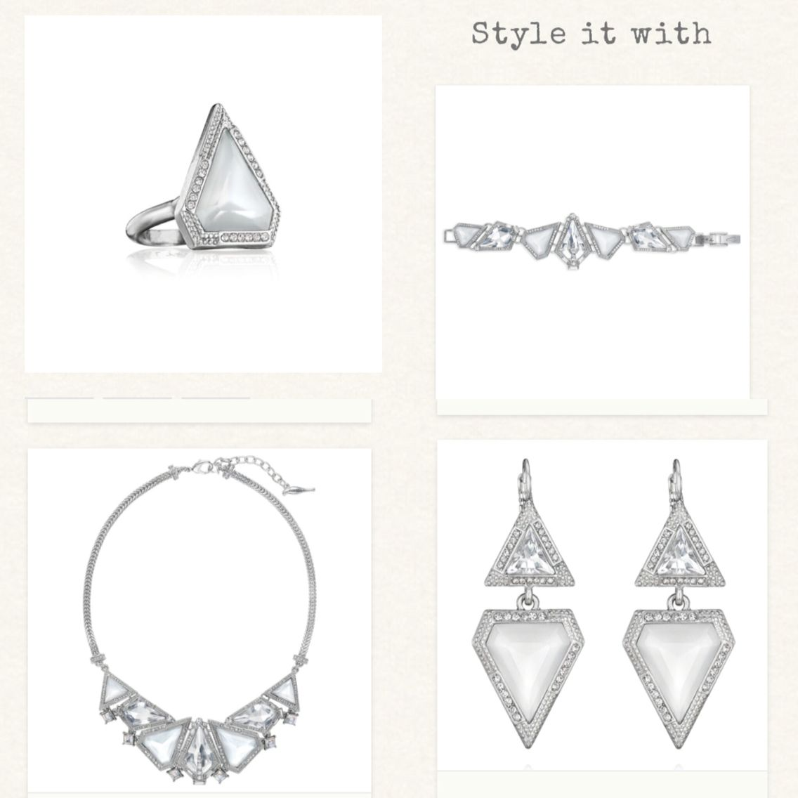 http://www.chloeandisabel.com/boutique/lizatejada  Glacier Statement Collection