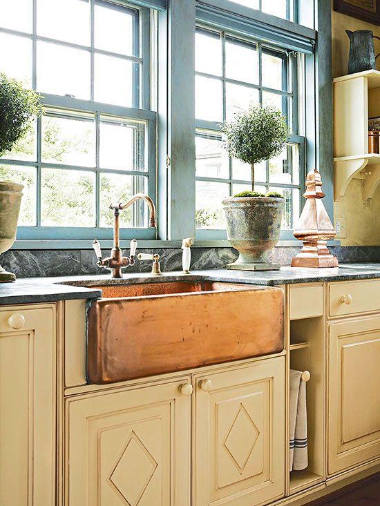 Lavabos para cocinas de estilo cottage | Lavabo, Cocinas y Estilo