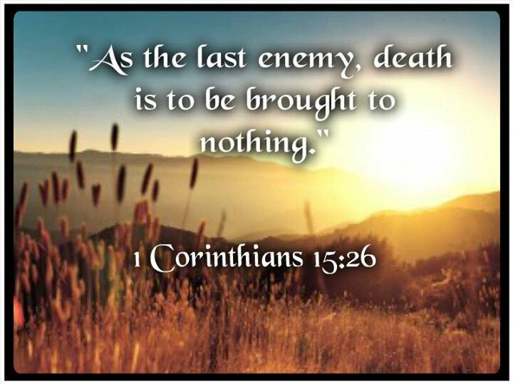Image result for image of Isaiah 25:8 1 Corinthians 15:26
