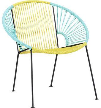 Best 230 Ixtapa Yellow Aqua Lounge Chair Modern Outdoor 400 x 300