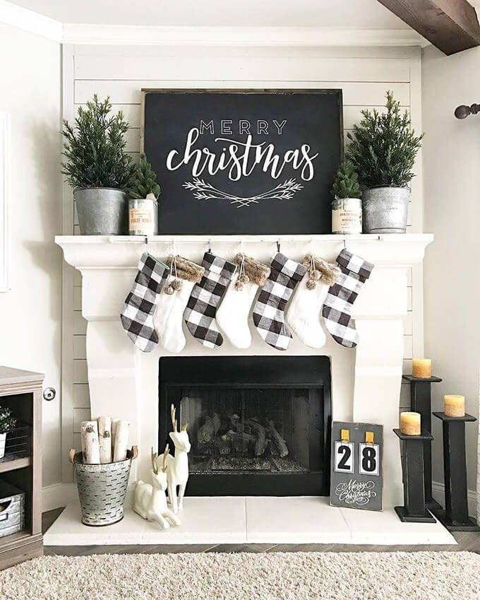 Farmhouse Christmas decor trend 2019