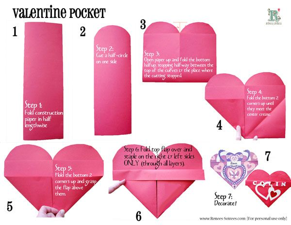Origami Heart Instructions | Free Printable Papercraft Templates | 464x600