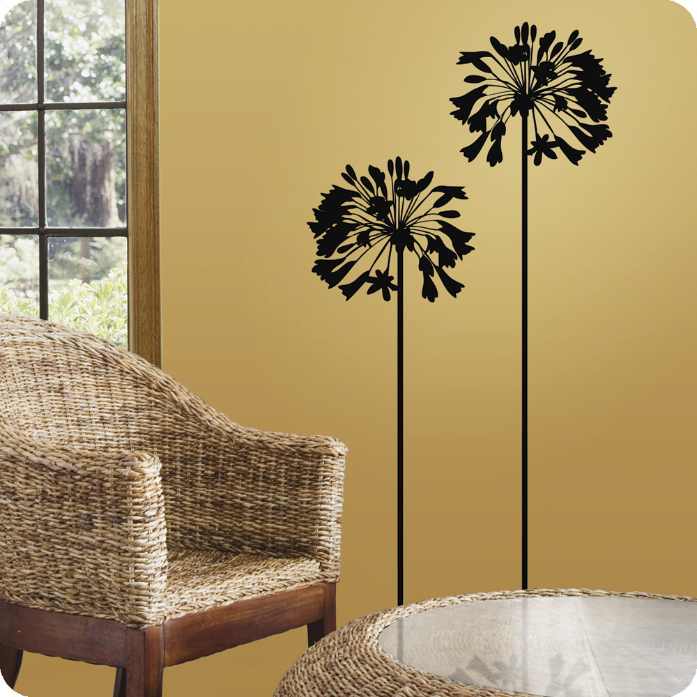 wall decals | ... Agapanthus Flower Wall Decals for Living Room ...