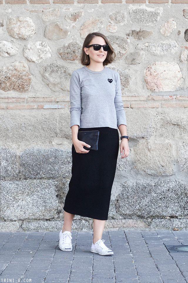 979fc85ac Trendtation.com : look-Trini | OhMyStyle | Moda faldas, Faldas denim ...