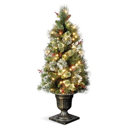 National Tree WP1-302-50 5 ft Wintry Pine Entrance Tree, Green