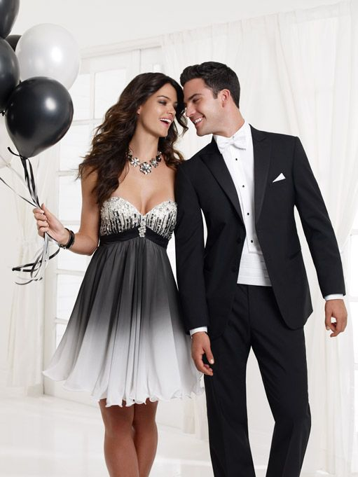 Prom Tuxedo - Black and White | Jean Yves | Prom Tux Inspo ...