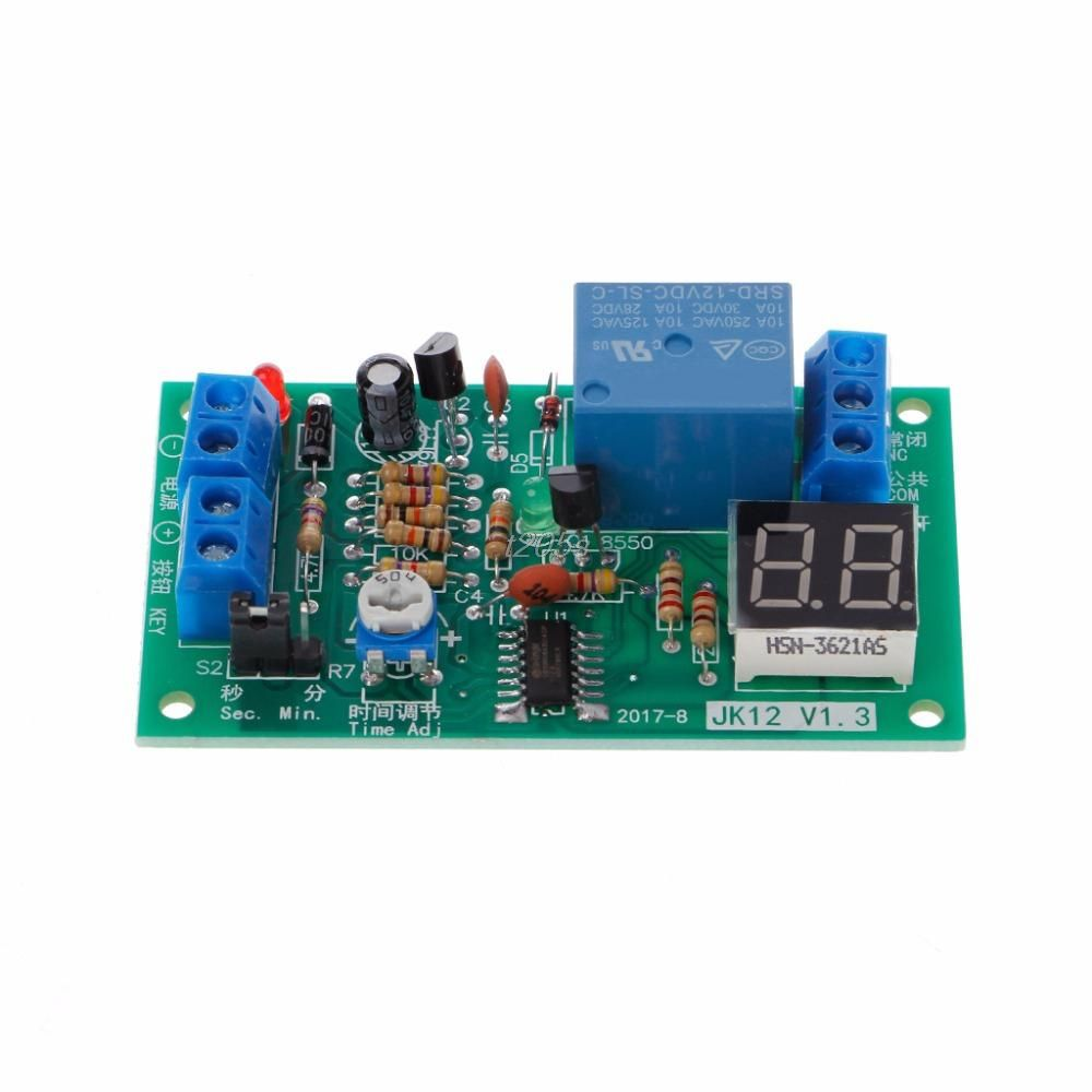 Dc 12v Delay Relay Delay Turn Off Switch Module With Led Timer Electrical Equipment Relays T12 Drop Ship Electrical Equipment Timer Relay