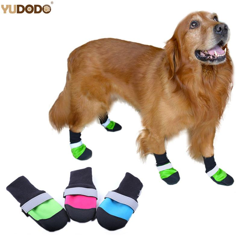 Waterproof Large Dog Shoes For Golden Retriever Dog Rain Boots