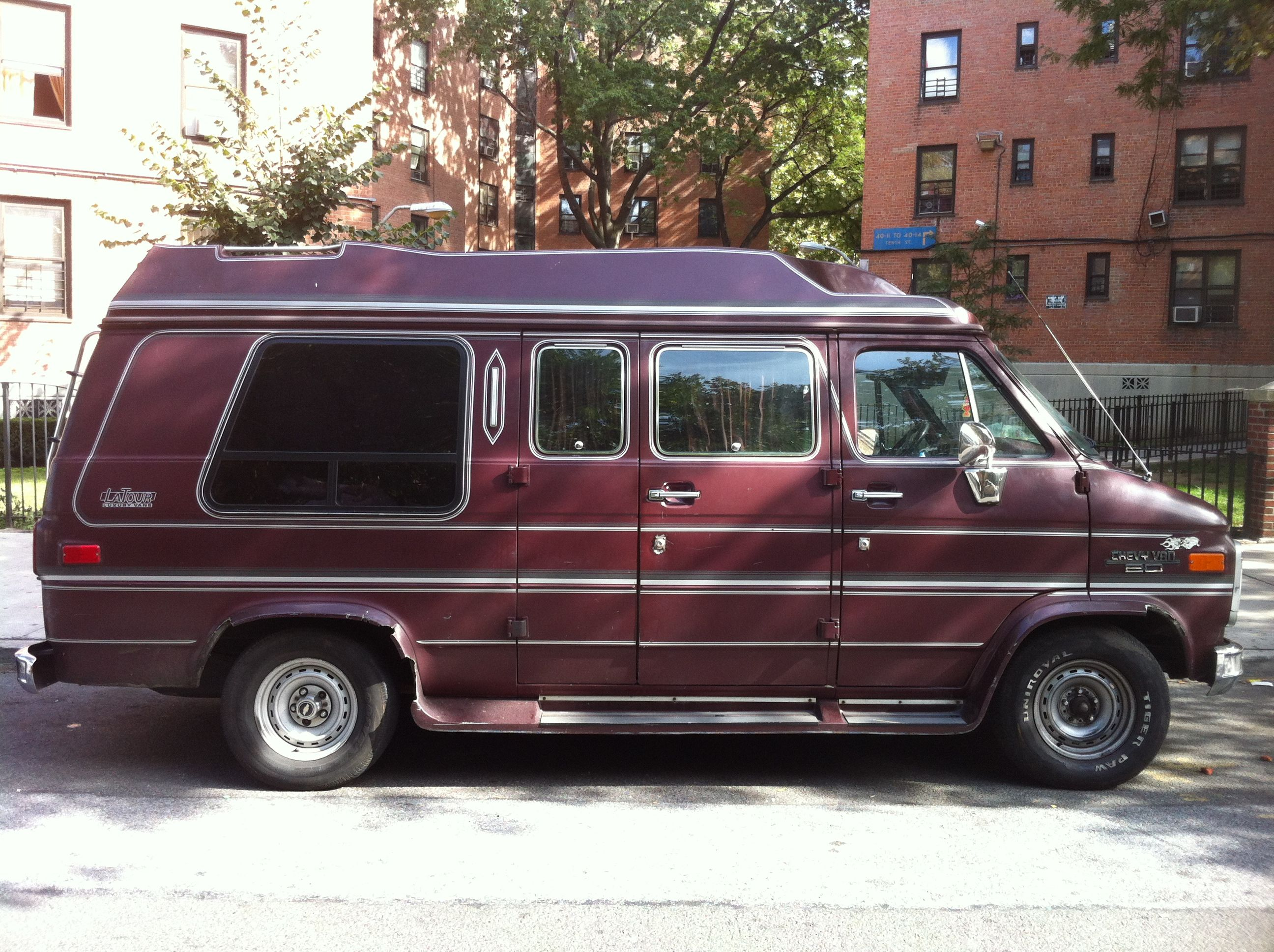 A Van That S Fine Is The Color Of Wine Chevy Van Custom Vans Mini Van
