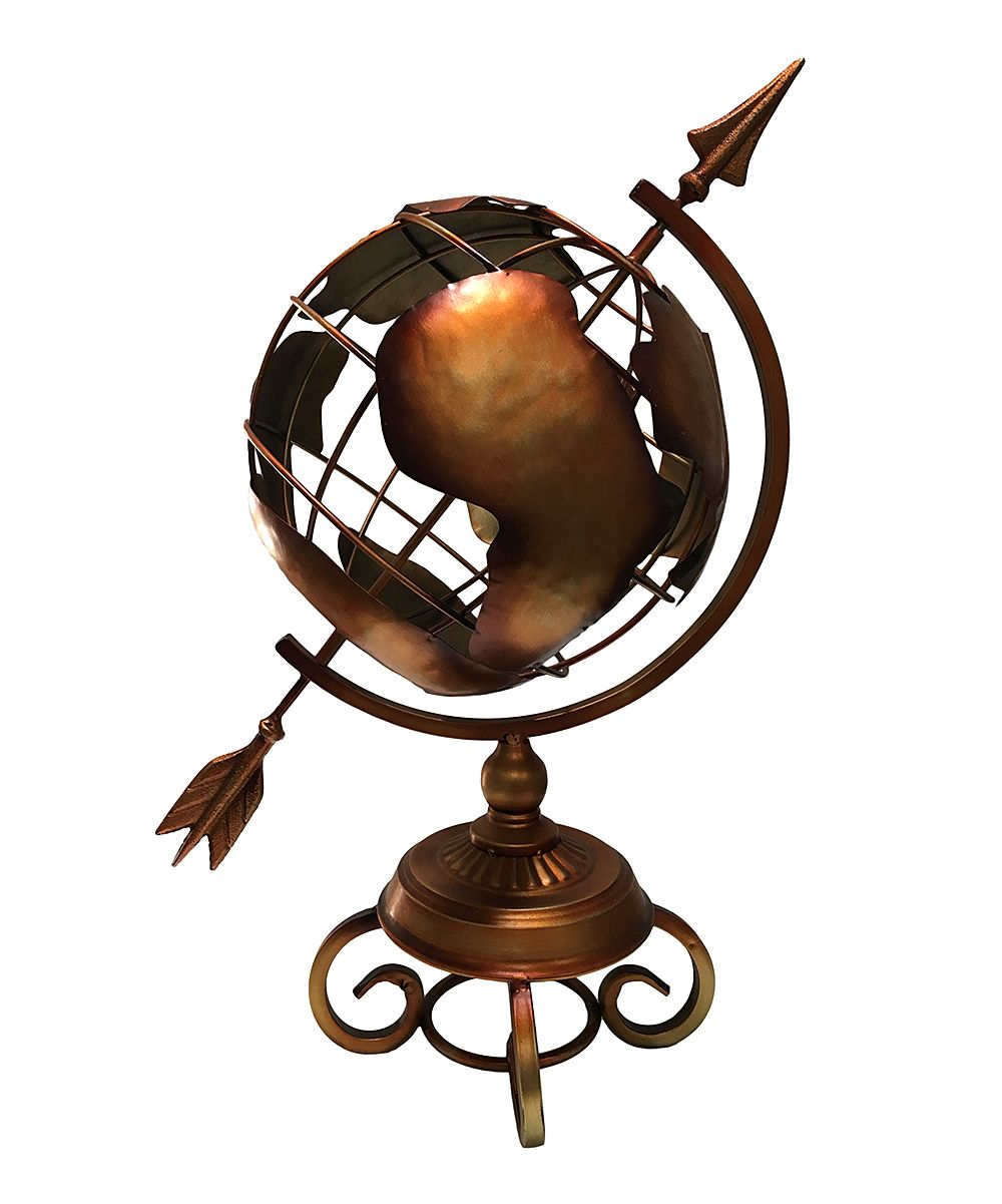 Small Metal Arrow Globe