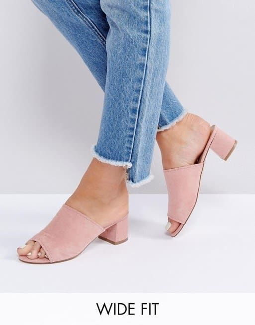 Heeled mules sandals