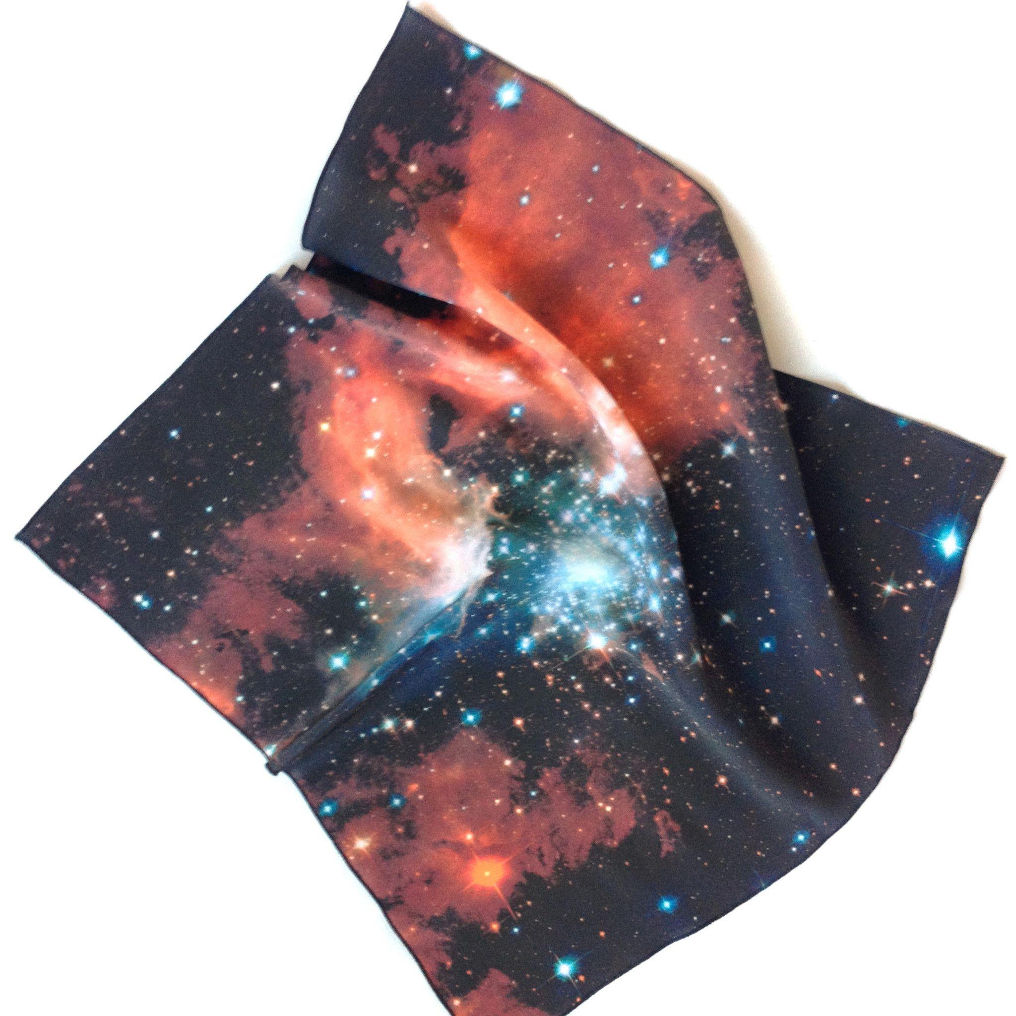 Crimson Galaxy Handkerchief