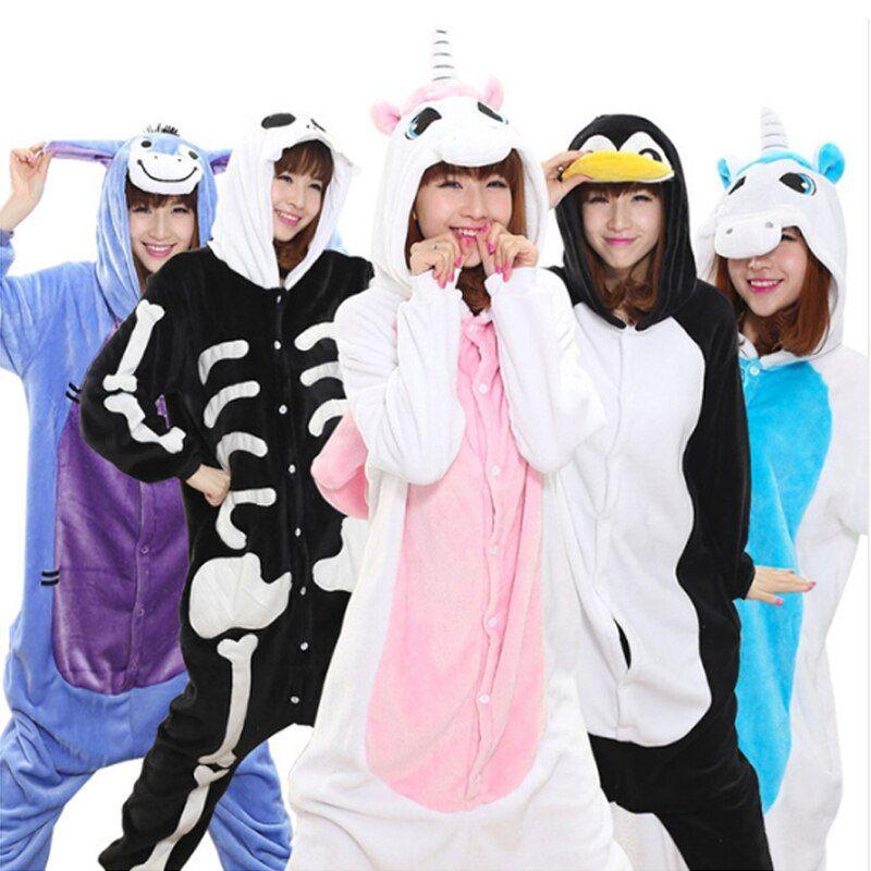 2020 的 winter unicorn pajama sets women pijama unicornio