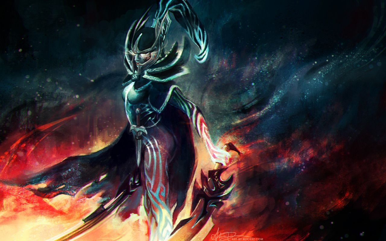Heres A Painting Of Phantom Assassin From DotA 2 Works As Wallpaper Or Loading Screen Maybe My First Real Fanart For Game I Have Played Lot
