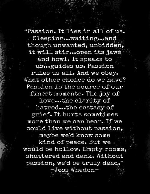 Joss Wheadon ....Passion ❤️☀️